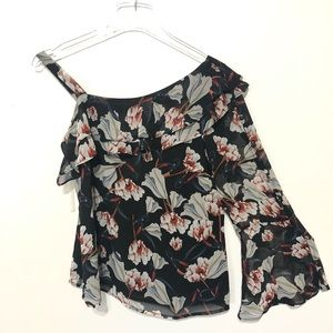 INC One Sleeve floral blouse